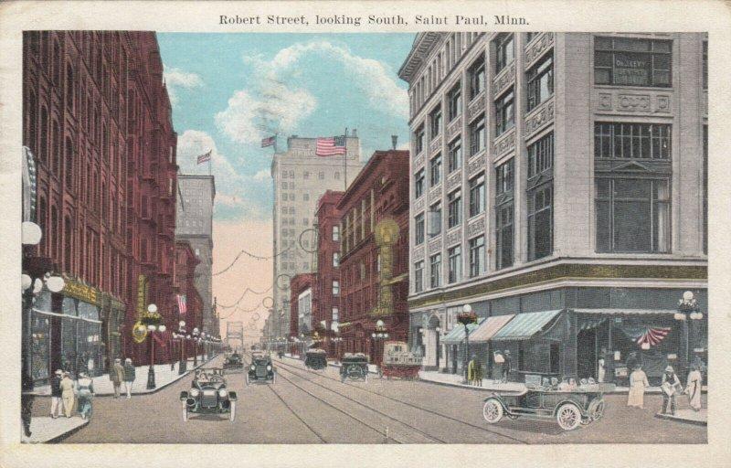 SAINT PAUL, Minnesota, PU-1924; Robert Street, looking South