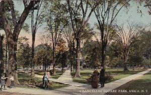 New York Utica Chancellor Square Park 1913