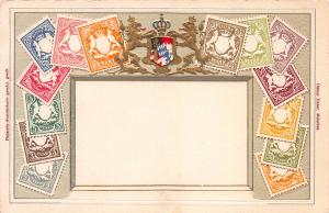 Bavaria, Classic Stamps in Actual Colors, Early Embossed Postcard, Unused