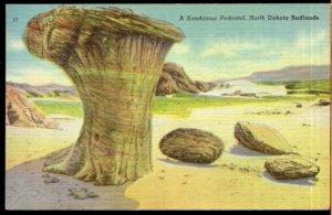 North Dakota Badlands ~ A Sandstone Pedestal - pm1947 - LINEN