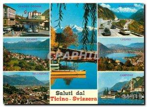 Postcard Modern Saluti dal Ticino Chiasso Svizzera Dogana S Gottardo Locarno