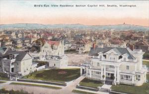 Washington Seattle Birds Eye View Residence Section Capitol Hill