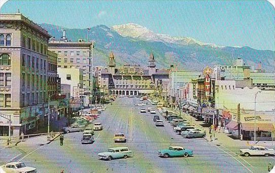 Colorado Colorado Springs Pikes Peak Avenue