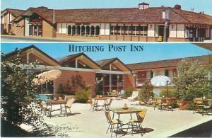 Cheyenne, Wyoming Hitching Post Inn 2 Views 1600 West Lincolnway Chrome Postcard