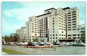 Postcard CT Hartford St. Francis Hospital 1950's Old Cars D8