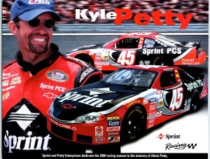 Kyle Petty # 45 Nascar Racing Sprint Photo Card