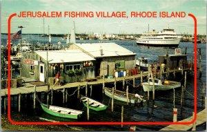 Rhode Island - Jerusalem Fishing Village - CHROME  POSTCARD PC