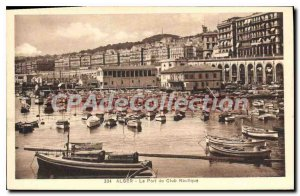 Old Postcard From Algiers Port Nautical Club