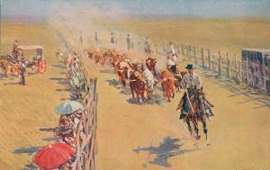 Spain El Encierro M. Bertuchi Postcard 02.12