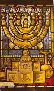 Synagogue Windows Israel Writing on back