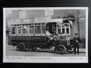 Omnibus EAST SURREY No2 THE RED CROSS - REIGATE Pamlin Print Postcard M96