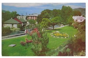 Lava Hot Springs Foundation Flower Gardens Idaho Postcard