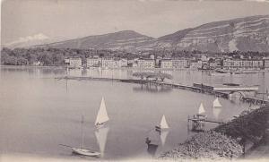 Geneve, La Rade et le Mont-Blanc, Sail boats, Switzerland,  00-10s