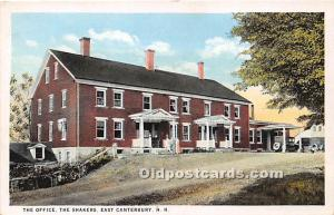 Old Vintage Shaker Post Card The Office East Canterbury, New Hampshire, NH, U...