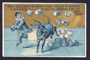 VICTORIAN TRADE CARD King's Quick Rising Buckwheat Flour