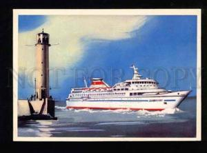050567 Odessa lighthouse & ship Bellarussia Old PC