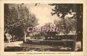 Postcard Old Monumental Fountain Valencia (E Poitoux arch) Boulevard Bancel