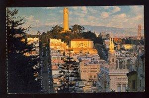 San Francisco, California/CA Postcard, Telegraph Hill & Coit Tower