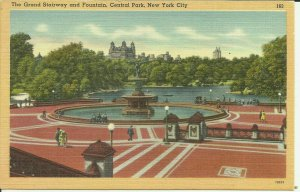 New York City, Central Park, The Grand Stairway and Fountain