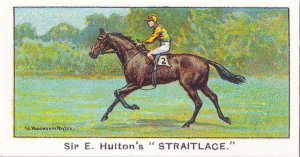 Straitlace Winners On The Turf 1923 Oaks Victory Horse Racing Cigarette Card