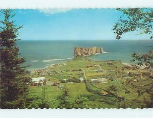 Unused Pre-1980 TOWN VIEW SCENE Perce - Gaspe Peninsula Quebec QC p8400