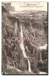 Old Postcard The Pyrenees Gavarnie La Grande Cascade