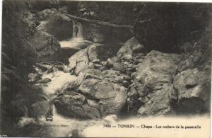 CPA Vietnam Indochine TONKIN Chapa - Les rochers de la passerelle (62169)