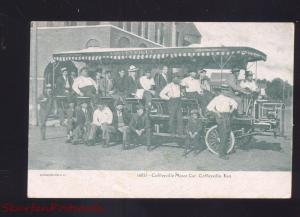 COFFEYVILLE KANSAS COFFEYVILLE MOTOR CAR BUS ANTIQUE VINTAGE POSTCARD 1906