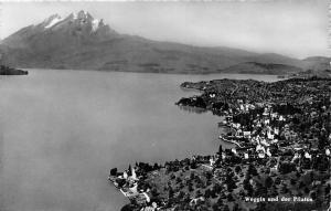 Switzerland Weggis und der Pilatus Panorama General view Mountain Berg Lake