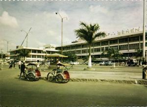 indonesia, JAVA JAKARTA DJAKARTA, The Senen Super Market, Rickshaw (1960s)