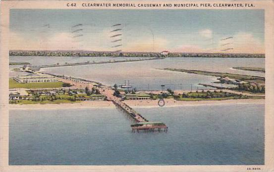 Florida Clearwater Clearwater Memorial Causeway And Municipal Pier 1937