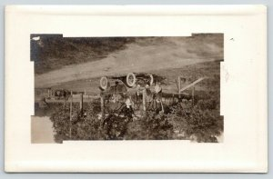 RPPC Let's Stop at Neighbors After Sunday Drive in our New Car~RPPC c1910 Buggy