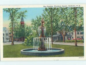Linen POSTCARD FROM Rochester New Hampshire NH HM9912