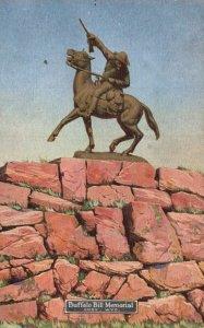 Cody, Wyoming, WY, Buffalo Bill Memorial, Burlington Route Old Postcard g8233