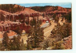 Vintage Postcard Tunnels Red Canyon Bryce Canyon National Park Utah # 2542