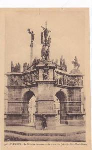 Le Calvaire Formant Arc De Triomphe (1650)- Cote Nord Ouest, Pleyben (Finiste...