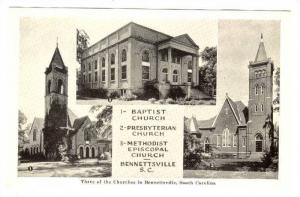 Baptist & other Churches , Bennetsville , South Carolina , 30-50s