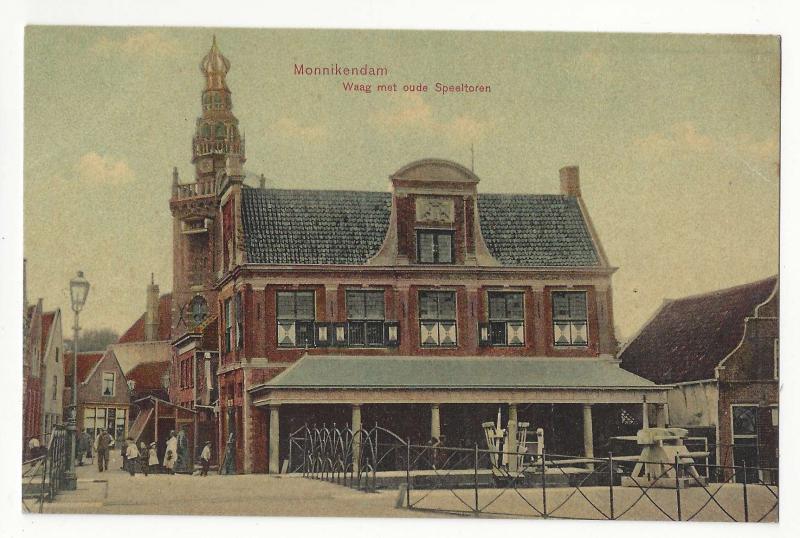 Netherlands Monnikendam Waag met ouda Speeltoren Vtg Postcard Trenkler c 1910