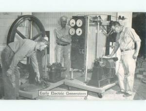 1940's EARLY ELECTRIC GENERATOR AT PIONEER VILLAGE Minden Nebraska NE E8717