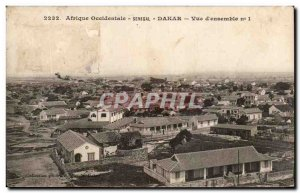 Old Postcard West Africa Senegal Dakar Overview