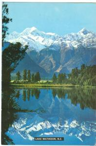 New Zealand, Lake Matheson, Westland, used Postcard
