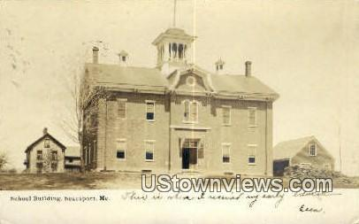 Real Photo, School Bldg Searsport ME 1906