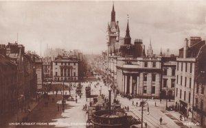 RP; ABERDEEN, Aberdeenshire, Scotland, 1920-1940s; Union Street From East End