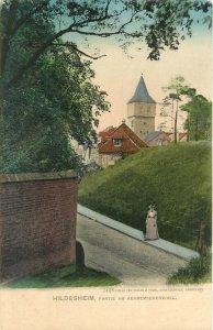 Vintage Postcard Hildesheim Germany  Lower Saxony Partie Am Kehrewiederwall