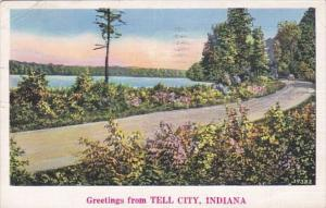 Indiana Greetings From Tell City 1938