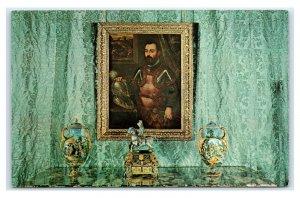 Postcard Hearst San Simeon CA - Portrait of Alvisius Vandramin in Sitting Rm M19