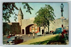 Quebec Canada, Porte St-Jean, Chrome c1964 Postcard