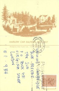 UK England Postcard Harlow Car Sulphur Spa