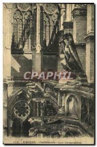 Old Postcard Amiens Gargoyles