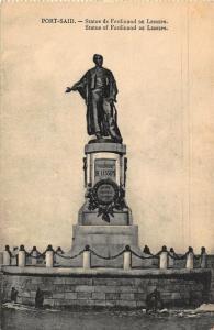 Egypt Port Said Statue of Ferdinand de Lesseps Postcard